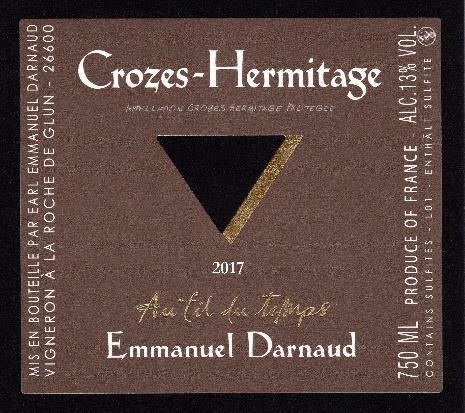 Crozes hermitage Rouge 2017